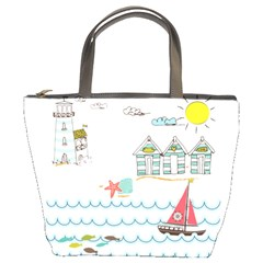 Summer Holiday Bucket Handbag by whitemagnolia