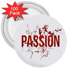 Passion And Lust Grunge Design 3  Button (100 Pack) by dflcprints