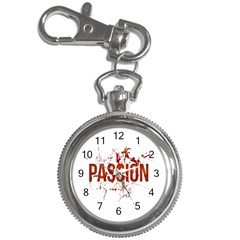 Passion And Lust Grunge Design Key Chain Watch by dflcprints