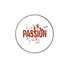Passion And Lust Grunge Design Golf Ball Marker (for Hat Clip) by dflcprints