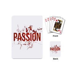 Passion And Lust Grunge Design Playing Cards (mini) by dflcprints