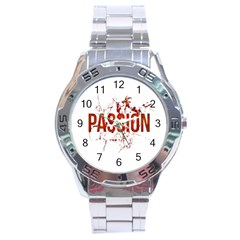 Passion And Lust Grunge Design Stainless Steel Watch by dflcprints