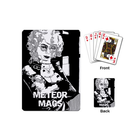 Meteor Mags Playing Cards By Matthew   Playing Cards (mini)   Zt2hdvnjg93z   Www Artscow Com Back