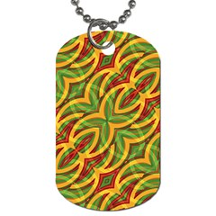 Tropical Colors Abstract Geometric Print Dog Tag (two Sided)  by dflcprints