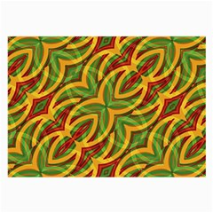 Tropical Colors Abstract Geometric Print Glasses Cloth (large) by dflcprints