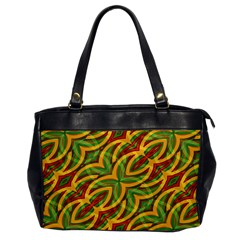 Tropical Colors Abstract Geometric Print Oversize Office Handbag (one Side) by dflcprints