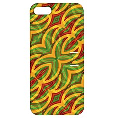 Tropical Colors Abstract Geometric Print Apple Iphone 5 Hardshell Case With Stand by dflcprints