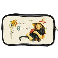 Hallowe en Greetings Travel Toiletry Bag (Two Sides) by EndlessVintage