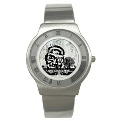 M G Firetested Stainless Steel Watch (slim) by holyhiphopglobalshop1