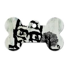 M G Firetested Dog Tag Bone (one Sided) by holyhiphopglobalshop1