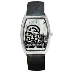 M G Firetested Tonneau Leather Watch by holyhiphopglobalshop1