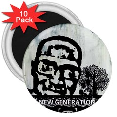 M G Firetested 3  Button Magnet (10 Pack) by holyhiphopglobalshop1