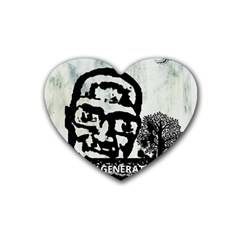 M G Firetested Drink Coasters 4 Pack (heart)  by holyhiphopglobalshop1