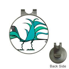 Fantasy Bird Hat Clip With Golf Ball Marker by dflcprints