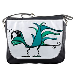 Fantasy Bird Messenger Bag by dflcprints