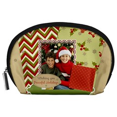 Merry Christmas By Merry Christmas   Accessory Pouch (large)   K988dpdpld3j   Www Artscow Com Front