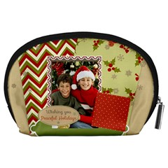 Merry Christmas By Merry Christmas   Accessory Pouch (large)   K988dpdpld3j   Www Artscow Com Back