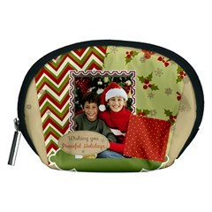 Merry Christmas By Merry Christmas   Accessory Pouch (medium)   5atet94z9w88   Www Artscow Com Front