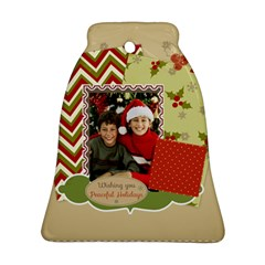 Merry Christmas By Merry Christmas   Bell Ornament (two Sides)   Oorfjislipc2   Www Artscow Com Front