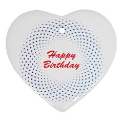 Halftone Circle With Squares Heart Ornament (two Sides) by rizovdesign