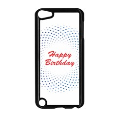Halftone Circle With Squares Apple Ipod Touch 5 Case (black) by rizovdesign