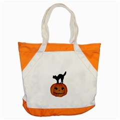 Vintage Halloween Cat Accent Tote Bag by EndlessVintage