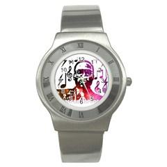 Iamholyhiphopforever 11 Yea Mgclothingstore2 Jpg Stainless Steel Watch (slim) by christianhiphopWarclothe