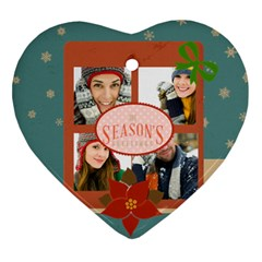 Merry Christmas By Merry Christmas   Heart Ornament (two Sides)   6i0e8bkx9imx   Www Artscow Com Front