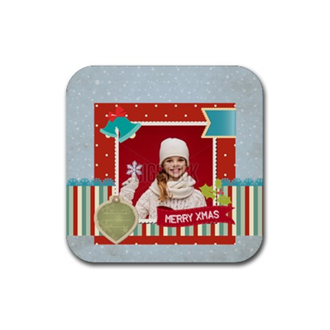 Xmas By Xmas   Rubber Coaster (square)   Ulk5xo8juo7j   Www Artscow Com Front