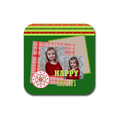 Xmas By Xmas   Rubber Coaster (square)   Iedgcpq6nvzf   Www Artscow Com Front