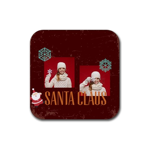 Xmas By Xmas   Rubber Coaster (square)   Mk0p9kcvw9l3   Www Artscow Com Front