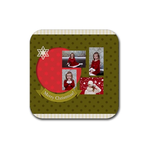 Xmas By Xmas   Rubber Coaster (square)   C6hlyb5sx6nl   Www Artscow Com Front