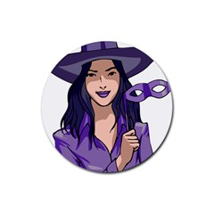 Purple Witch Drink Coasters 4 Pack (round) by FunWithFibro