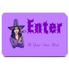 Purple Witch Large Door Mat by FunWithFibro