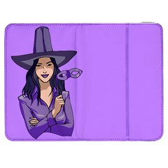 Purple Witch Samsung Galaxy Tab 7  P1000 Flip Case by FunWithFibro