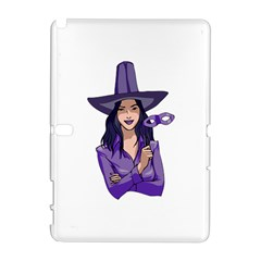 Purple Witch Samsung Galaxy Note 10 1 (p600) Hardshell Case by FunWithFibro