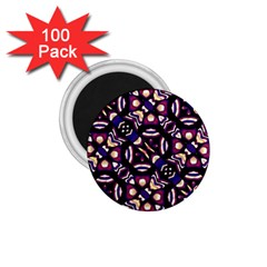 Colorful Tribal Pattern Print 1.75  Button Magnet (100 pack) by dflcprints