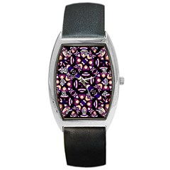 Colorful Tribal Pattern Print Tonneau Leather Watch by dflcprints