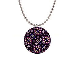 Colorful Tribal Pattern Print Button Necklace by dflcprints