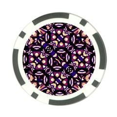 Colorful Tribal Pattern Print Poker Chip by dflcprints
