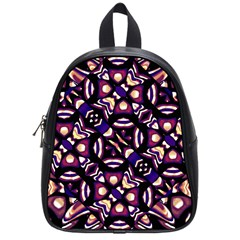 Colorful Tribal Pattern Print School Bag (small) by dflcprints