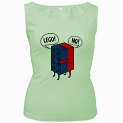 Lego Women s Green Tank Top by NEWSHIRTS