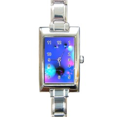 Love In Action, Pink, Purple, Blue Heartbeat 10000x7500 Rectangular Italian Charm Watch by DianeClancy