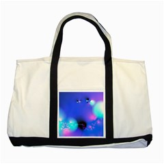 Love In Action, Pink, Purple, Blue Heartbeat 10000x7500 Two Toned Tote Bag by DianeClancy