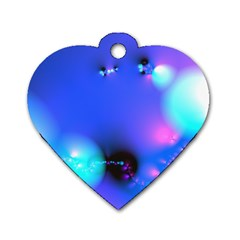 Love In Action, Pink, Purple, Blue Heartbeat 10000x7500 Dog Tag Heart (two Sided) by DianeClancy