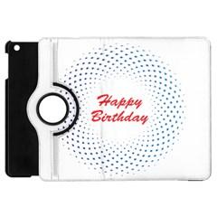 Halftone Circle With Squares Apple Ipad Mini Flip 360 Case by rizovdesign