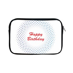 Halftone Circle With Squares Apple iPad Mini Zippered Sleeve by rizovdesign