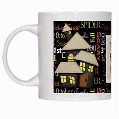 Spooky Mug By Lisa Minor   White Mug   P13zzeu5c0q3   Www Artscow Com Left