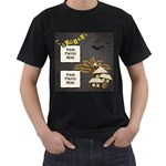 Spooky Shirt - Men s T-Shirt (Black) (Two Sided)