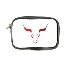 Stylized Symbol Red Bull Icon Design Coin Purse by rizovdesign